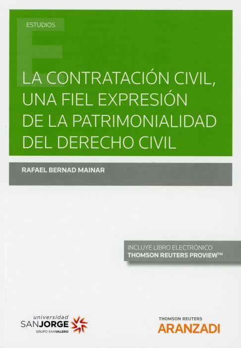 La contratación civil, una fiel expresión de la patrimonialidad del derecho civil
