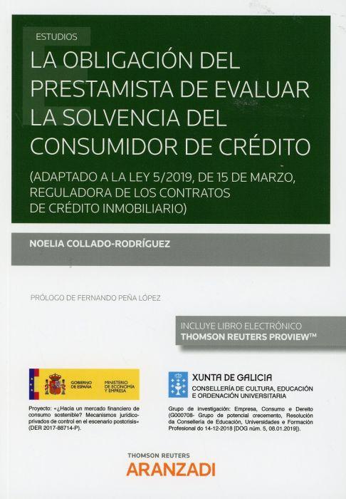 La obligación del prestamista de evaluar la solvencia del consumidor de crédito
